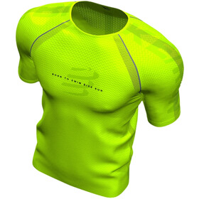 Compressport Training T-shirt manches courtes Born To SwimBikeRun 2020 Homme, lime